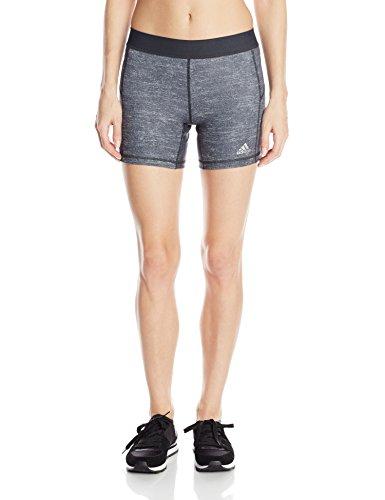 adidas Performance Women's Techfit 5-Inch Boy Shorts, Medium, Dark Grey Heather/Dark Grey (Adidas Compression Shorts Techfit)
