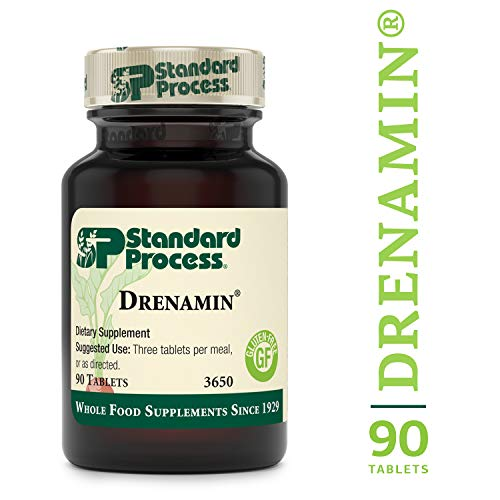 Standard Process - Drenamin - Supports Immune System Function, Energy Production, and Balanced Mood, Source of Antioxidant Vitamin C, Riboflavin, Niacin, and Vitamin B6, Gluten Free - 90 Tablets ()