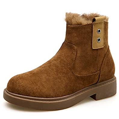 Amazon.com | T-JULY Brand Women Winter Boots Suede Ankle