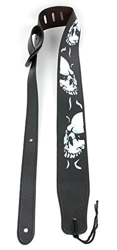Bray Premium Universal Ice Skull PU Leather Guitar Strap For Guitar Hero & Rock Band Guitars On PS3, PS2, Xbox 360 & Wii (Compatible With Guitar Hero: Warriors of Rock, 6, 5, 4, 3, 2 & 1)
