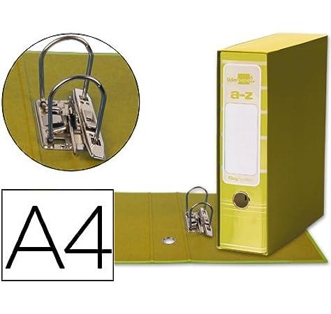 5 ARCHIVADORES DE PALANCA LIDERPAPEL A4 FILING SYSTEM AMARILLO CON CAJA: Amazon.es: Oficina y papelería