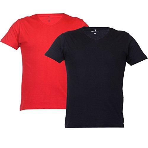 TeesTadka Men's Cotton T-Shirt (Pack of 2)