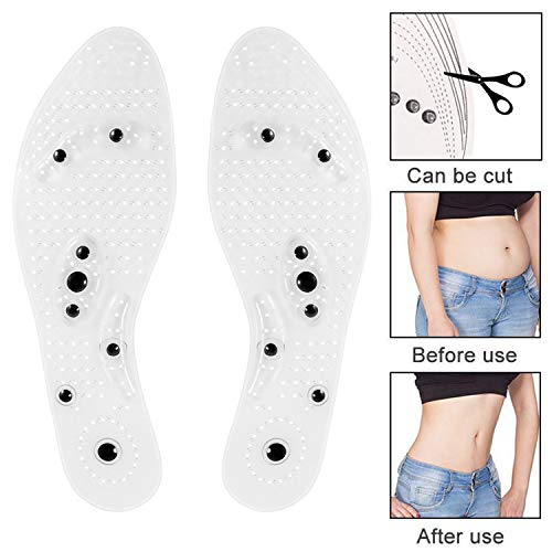 Mindinsole for Women & Men, Acupressure Magnetic Insoles, Effective Relieve Feet Fatigue,Washable and Cutable Shoe Insoles