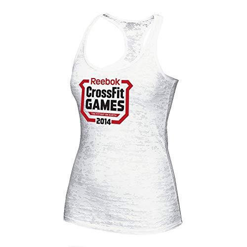 (Reebok 2014 Crossfit Games Logo Women's White Burnout Tank Top)