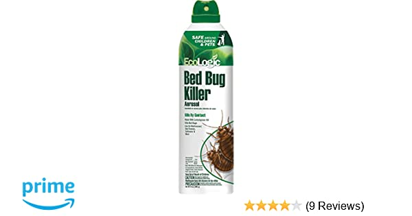 EcoLogic Bed Bug Killer Aerosol, with Lemongrass Oil, 14-Ounce