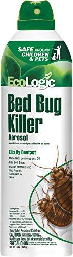 EcoLogic Bed Bug Killer Aerosol, with Lemongrass Oil, 14-Ounce - Natural Green Bed Bug