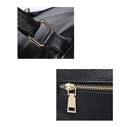Style Capacité Simple Et Mode Dos Polyvalent À Européen Sacs Américain Darkblue Mesdames Yxpnu Grande zY1fX