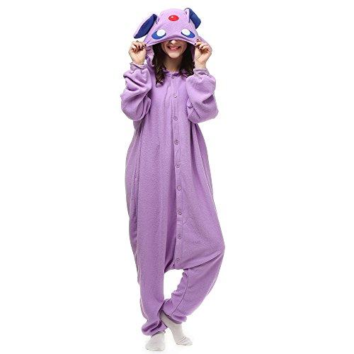 Pokemon Espeon Adult Onesie. Animal Pajama Costume for Teenagers, Women, Men (M/Large) Purple