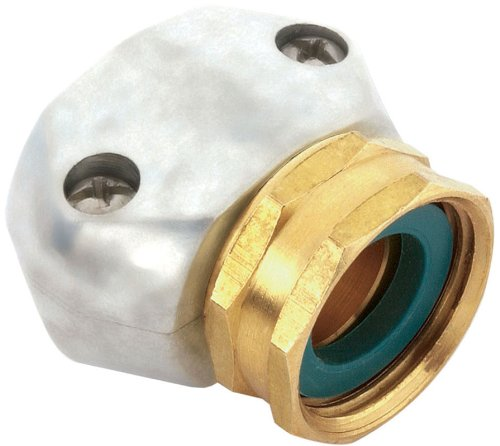 12 Pack Gilmour 01FZ 5/8'' to 3/4'' Hose Repair Female Connector / Coupler End - Zinc and Brass by Gilmour