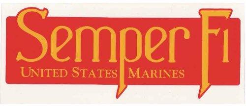 Usmc Us Marines Corp Semper Fi Long Window Sticker Decal
