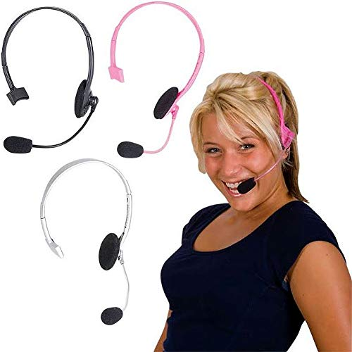 RICA-MICRO Gray Pop Star Rapper Headset Prop Only ()