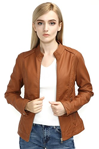 Bellivera Womens Leather Jacket Women Leather Coat for Spring Casual Short Jackets