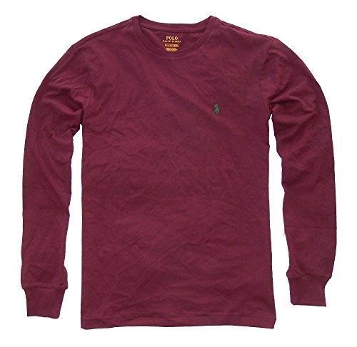 - Polo Ralph Lauren Men Long Sleeve Pony Logo T-Shirt (XX-Large, Classic Wine)
