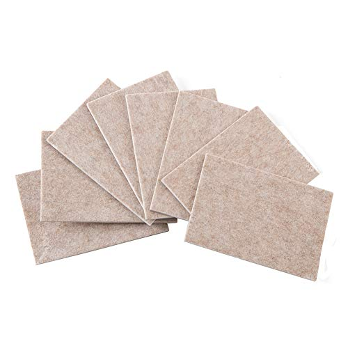 Furniture Pads Non Slip 8pcs 4.25X6 '' Furniture Leg Pads,Furniture Gripper, Self Adhesive Rubber Feet Pads Anti Scratch for Hardwood Tile Wood Floor Chair Leg Floor Protectors by STAR SMART