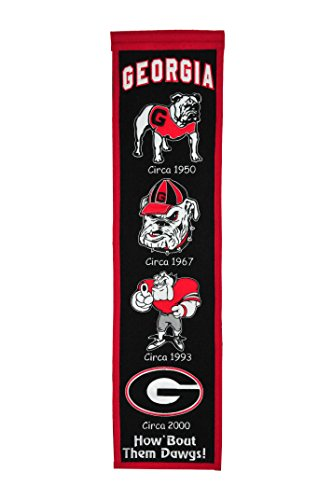 Nylon Georgia Indoor Flag - NCAA Georgia Bulldogs Heritage Banner