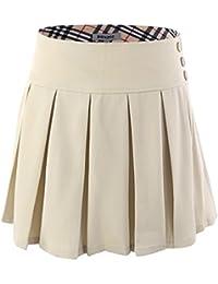 Girl's Stretchy Pleated Durable Adjustable Waist School Uniforms Dance Skirt