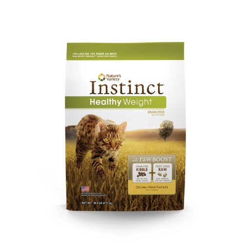 Instinct Raw Boost Healthy Weight Grain Free Chicken Meal Formula Natural Dry Cat Food By Nature'S Variety, 10.4 Lb. Bag