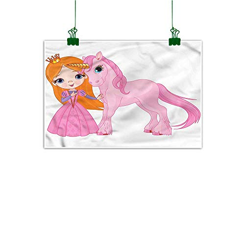 duommhome Customizable Princess Hand Painted Smiling Girl with Her Pony 16