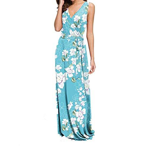 Sunhusing Women's Deep V-Neck Sleeveless Small Floral Print