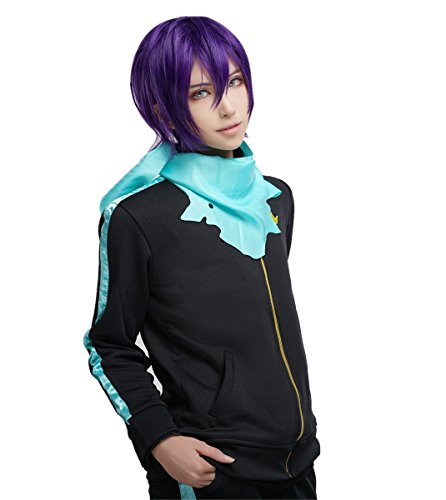 Yato Cosplay Costume (ROLECOS Unisex Yato Cosplay Costume Anime Athletic Casual Sports Suit Black L)