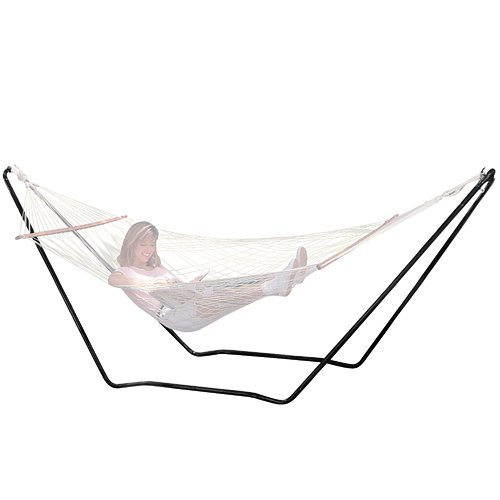 Texsport High Island Rope Hammock with Stand Easy Set Up by Texsport