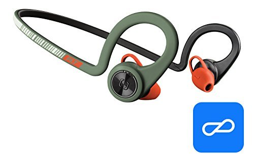 Plantronics BackBeat FIT Training Edition Sport Earbuds, Waterproof Wireless Headphones, Access to Interactive Audio Coaching from The PEAR Personal Coach App, Stealth Green ()