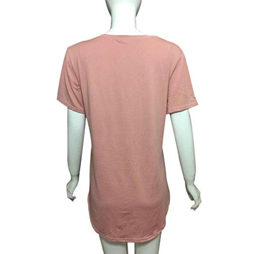 Blouse Courtes Winwintom Casual V Solide Manches T À cou shirt Femmes 2017 Tops qqnTZY0