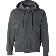 Gildan Heavy Blend Mens Vintage Full Zip Hooded Sweat / Hoodie