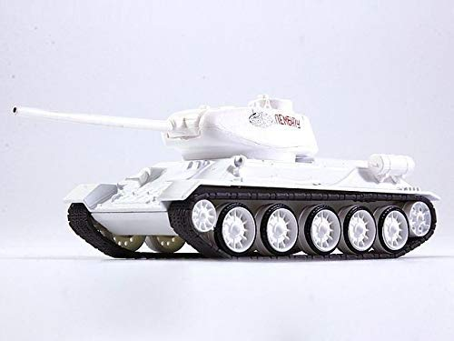 Russian Tanks T-34-85 Soviet Medium Tank USSR Winter 1944 Year WWII 1/72 Scale Diecast Model