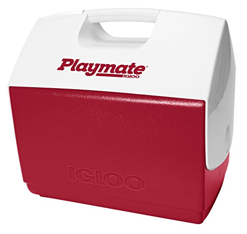 (Igloo Playmate Elite 16 Qt. Personal Sized Cooler, Red body with white lid - 43362)