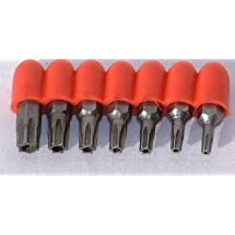 7 Pc. Torx Driver Security Bit Set T-10 to T-40