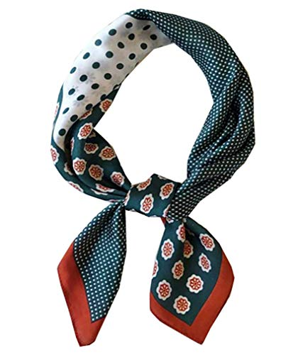 Square Silk Feeling Neckerchief Handbag Hair Scarf Bracelet Gift For Women/Men (FGJ01-16)