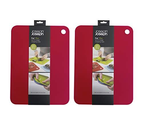 Set Mats Chopping Flexible (Joseph Joseph 96012 Pop Flexible Chopping Mats Set of 6, Large 15.5 x 11.5 inches 2-Pack, Multicolored)