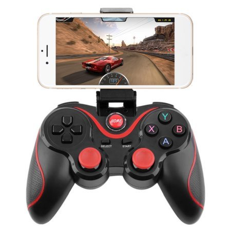 Obecome T3 Bluetooth Wireless Game Controller Gamepad Joystick for Smart Phones/Tablets/TVs/TV boxes(BLACK)