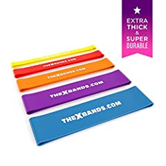 Looking for the most effective and the most durable resistance bands, which will never roll up or rip, and will endure toughest workouts?Then look no further!Extra thick resistance bands by The X Bands are designed for beginners and pro athle...