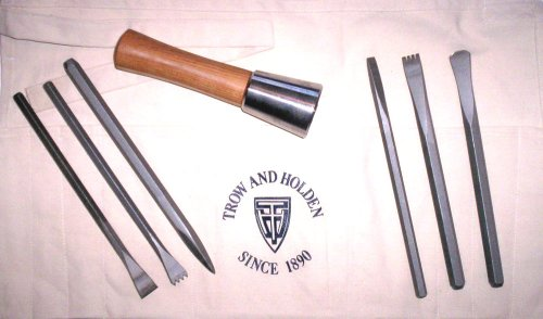 Image of SOFT STONE HAND CARVING SET WITH ROUND HAMMER