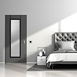 14 x 48-Inch Over The Door Mirror, Top Rated Full-Length Mirror, Over-the-Door Hardware Included