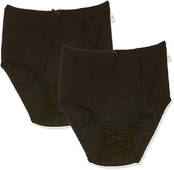 Hestia Women's Underwear Heroes Full Brief (2 Pack), Black, 10