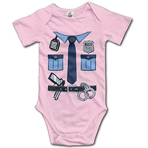 Police Uniform Gear Unisex Baby Bodysuit Cotton Short Seleeve Romper Jumpsuits Pink]()