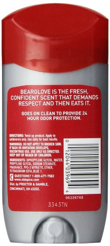 Old Spice Wild Collection Men s Deodorant, Bearglove 3 oz Pack of 6