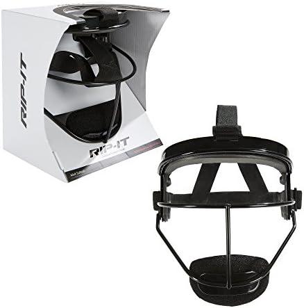 RIP-IT Defense Softball Feldmaske - Leichte sichere Passform bietet maximalen Schutz und Komfort - behindert Nicht die Sicht - Pferdeschwanz-freundlich