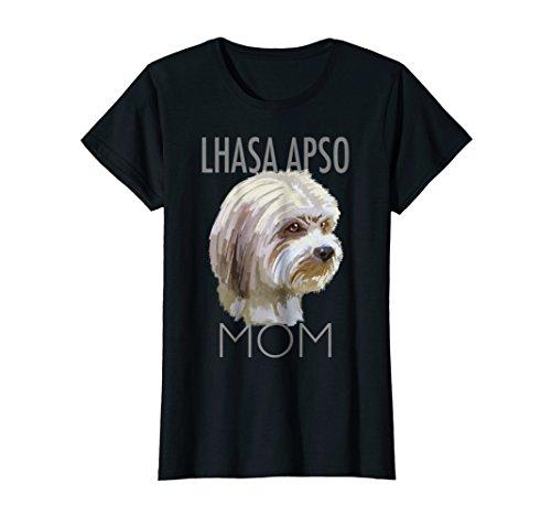 Lhasa Apso Mom Dog tee shirt T-shirt Tshirt