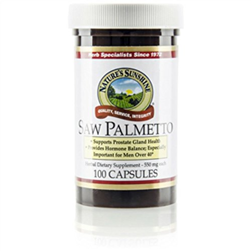 Palmetto Glandular System Support 550 mg 100 Capsules (Pack of 2) (Glandular System 100 Capsules)