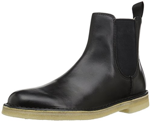 CLARKS Men's Desert Peak Chelsea Boot, Black Leather, 10 M US by CLARKS