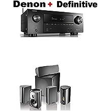 Denon AVR-X2500H 7.2 CH 95W 4K Ultra HD WiFi/Bluetooth AV Receiver + Definitive Technology Pro Cinema 800 System Black Bundle