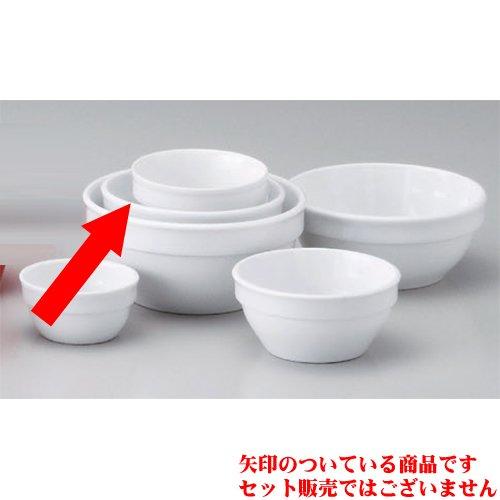 Souffle Plate utw680-45-524 [3.8 x 1.7 inch] Japanece ceramic Strengthening white 10cm stack ball tableware
