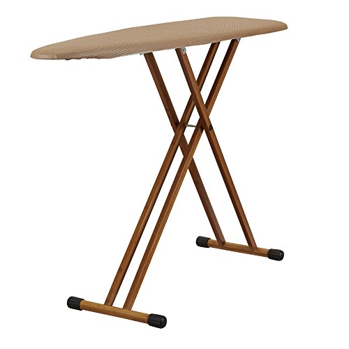 Household Essentials 801454 Ironing Board with Bamboo Legs and Polyester Mesh Cover