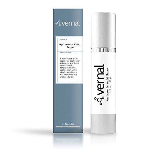 Vernal's 100% Pure Hyaluronic Acid Serum - Rich With Vitamins C, A, D, E and Age-Defying Antioxidants - Best Anti Wrinkle, Anti Aging Face Serum that Lifts and Firms Skin, Made in USA (Best Rated Wrinkle Filler)