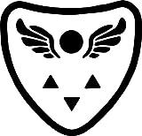 Undertale Video Game Delta Rune Shield 5.5' Logo Decal Sticker for Laptop Car Window Tablet Skateboard - Black Color