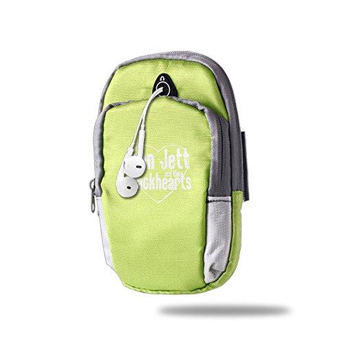 [Portable Arm Bag Rock N' Roll Love Jett KellyGreen] (Joan Jett Wigs)